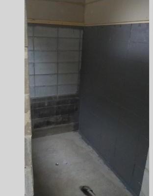 コンクリートブロック壁の防水処理