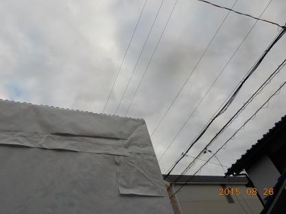 屋根を作りました。