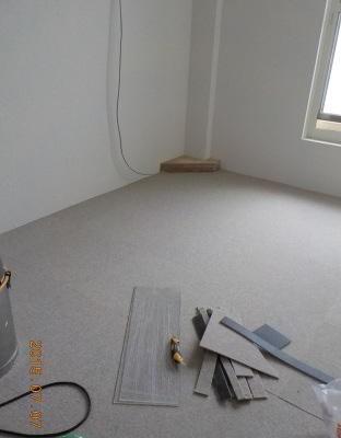 防音室の床にタイルカーペット張りました
