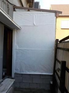 防音室の外壁をやっと仕上げました(施工前)