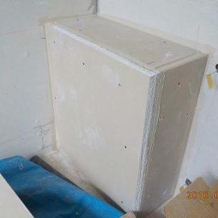 防音室に防音チャンバーを増設 石膏ボード張り完成
