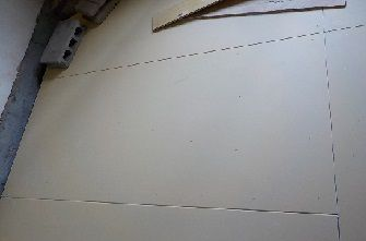 ベースメント中間層石膏ボード二枚貼り