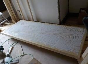 お部屋の中に新しい防音室を作るスーパーストラクチャー壁編|外側の壁貼り非硬化型接着材の塗りつけ