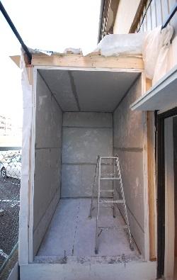 新しい防音室を作る壁