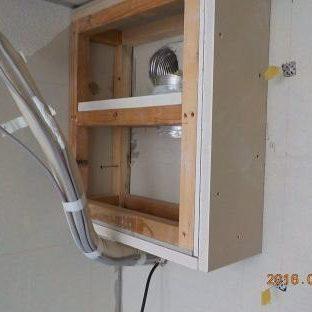 防音室に防音チャンバーを増設 チャンバー下地取り付け