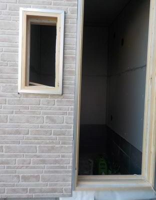 防音室の外壁に窯業系外壁材を張りました。