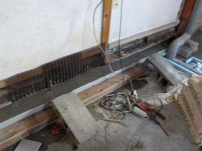 防音室設置室の補強 基礎