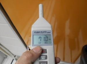 防音テスト 扉を強化後 吸音材なし71.0dB