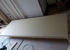 お部屋の中に新しい防音室を作るスーパーストラクチャー壁編|外側の壁張り1枚目貼り付け