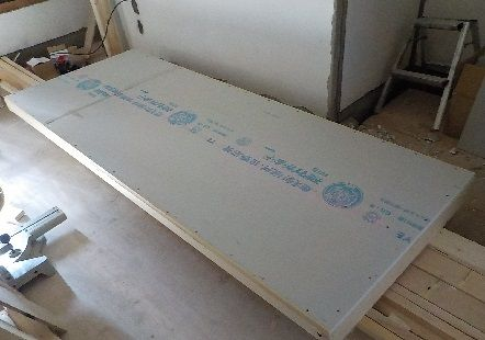 お部屋の中に新しい防音室を作るスーパーストラクチャー壁編|外側石膏ボード二枚貼り完成