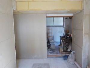 お部屋の中に新しい防音室を作るスーパーストラクチャー壁編| 内側の一枚目キッチン側