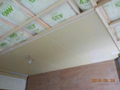 防音天井に石膏ボード張り