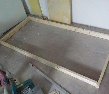 窓を内側に2重にする 新設窓の木枠