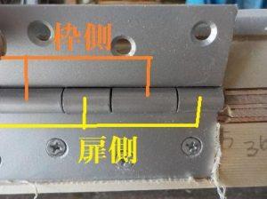 防音扉丁番の取り付けは扉側優先