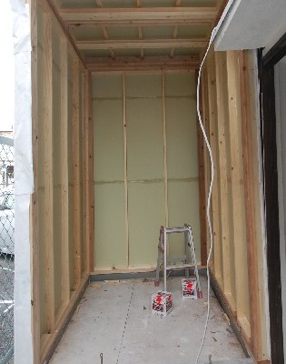 新しい防音室を作る外壁