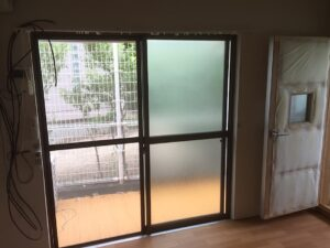 防音室付き古民家風ハイツのお部屋の窓