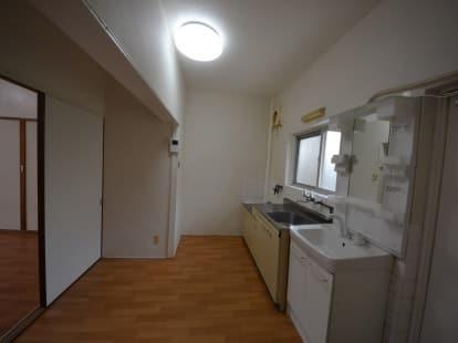 専用防音室のある2DKマンション キッチン