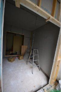 防音室アパート 1層目出来上がり 入口側から
