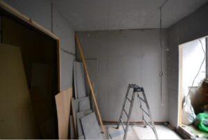 防音室アパート 1層目出来上がり横