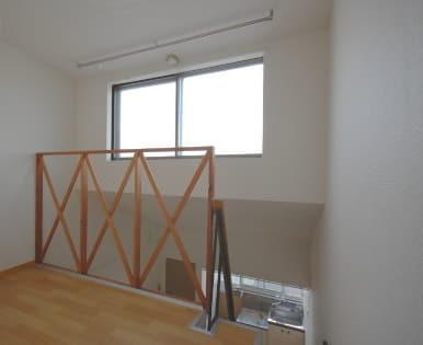 ロフト付きアパート ロフト階写真