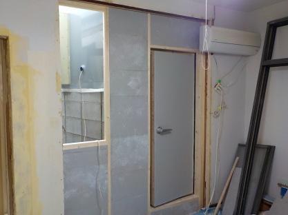 防音室とお部屋の仕切り完成