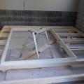 内側の防音室の窓