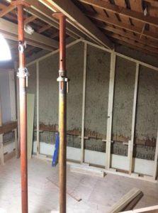 ロフトが防音室のお部屋リノベーション中 壁下地製作中