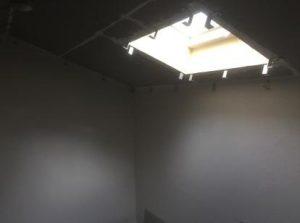 ロフトが防音室のお部屋リノベーション中 吸音材取付金具取付