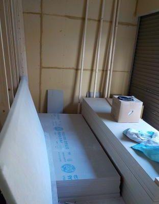 内部の防音室を作り始めました