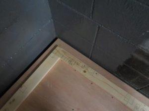 連棟式防音室の内側の防音室の壁下地詳細