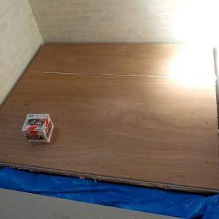 防音ブースの製作 ファンデーション(防音ブースの床)製作