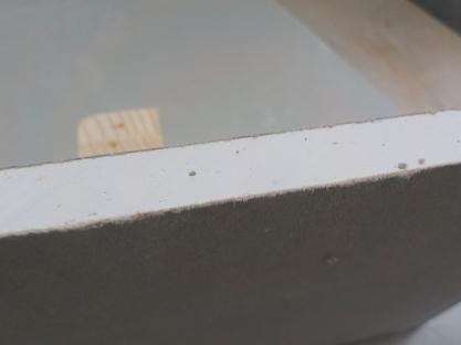 スーパーハードのノコギリによる切断面