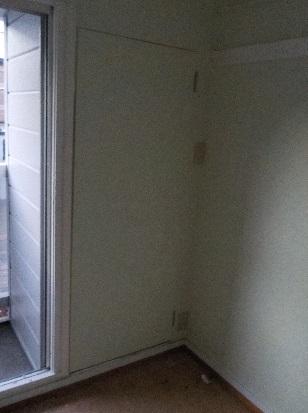 目立たないように壁と同じにしたトイレの扉