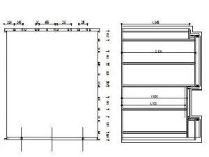 内ら側の防音室の図面