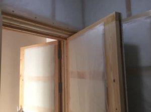3重の防音室 3重の防音扉