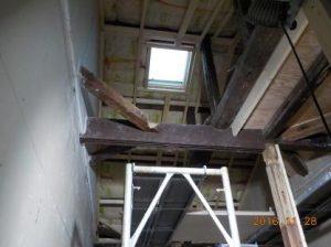古民家風の防音室の天井下地造作