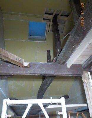 古民家風の防音室の天井張り