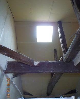 古民家風の防音室の天井張り完成